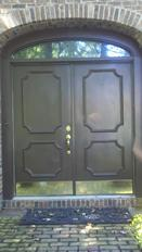 Brown Steel Doors