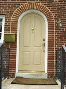 New Rustic Radius Fiberglass Door