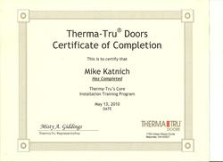 Therma Tru Certified Installer